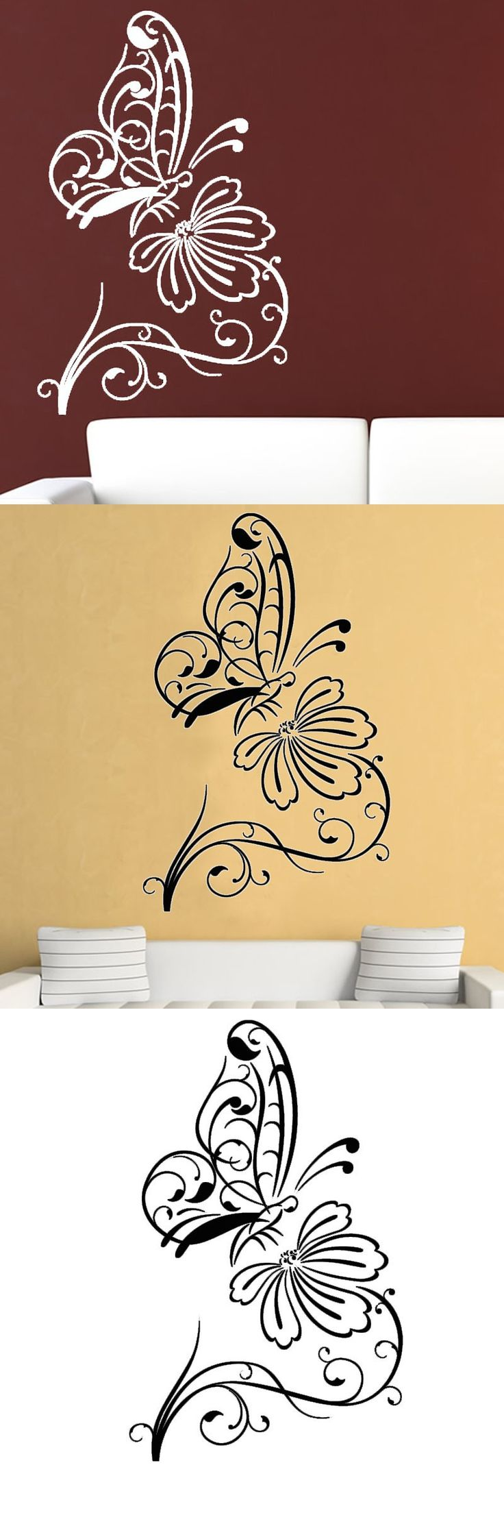 11 best Adorable Floral and Plant Wall Stickers images on ...