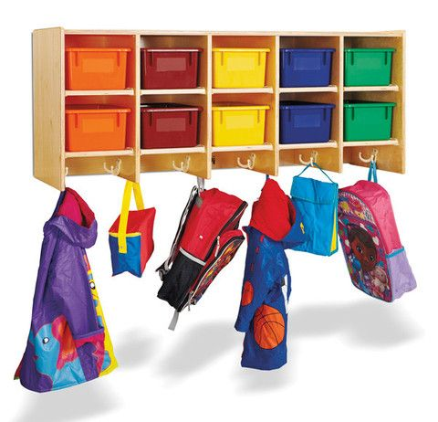 Storage and Organization. Large double hooks provide enough space for ten children.