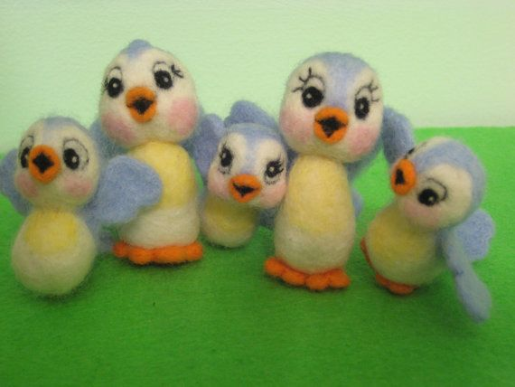 My needle felted Bluebirds of Happiness make me smile! :) I enjoy making them so much!: Happiness, Felted Bluebirds, Enjoy Making, Eye, Bluebirds Doo Dads, Make Me Smile