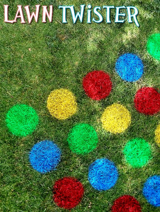 Use marking paint to make outdoor play even more fun with this DIY Lawn Twister!