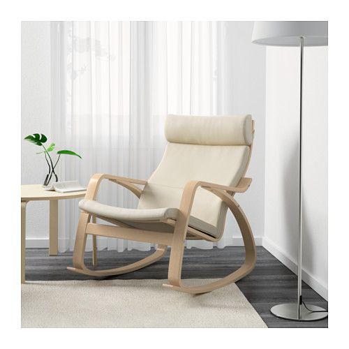 POÄNG Chaise berçante - Glose coquille d'oeuf, bouleau plaqué - IKEA