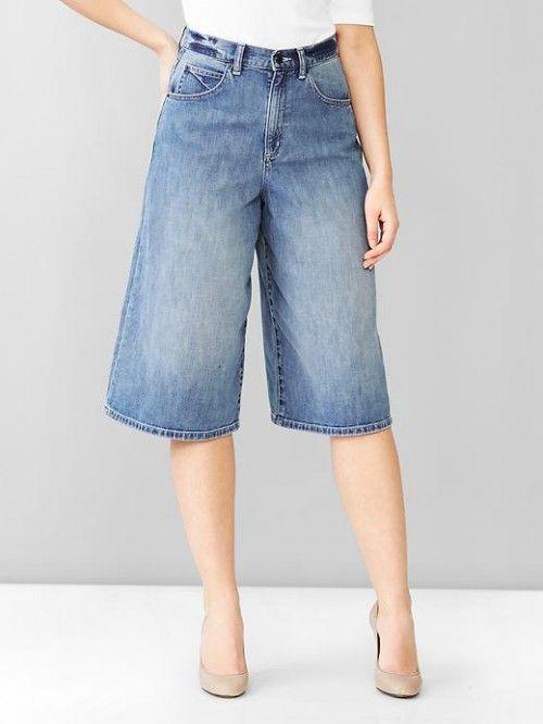 Gap 1969 Wide Leg Denim Culotte Indigo   Skirt and Clothing