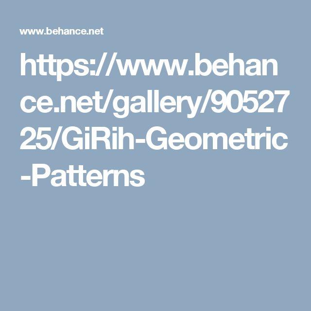 https://www.behance.net/gallery/9052725/GiRih-Geometric-Patterns