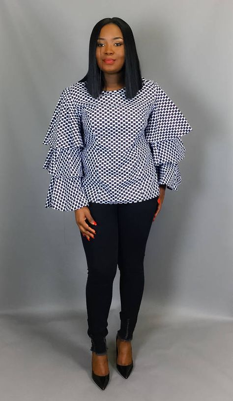 Vêtements africain africain impression trois niveaux volant