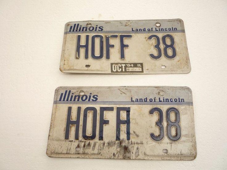 1994 ILLINOIS,IL.HOFF HOFA Jimmy Hoffa David Hasselhoff 38 special License Plate