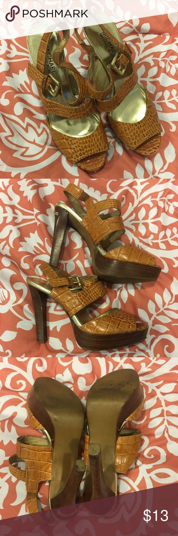 Authentic women's Michael Kors heels Women's authentic Michael Kors heels. Size 8.5. Used condition as seen in pics Michael Kors Shoes Heels