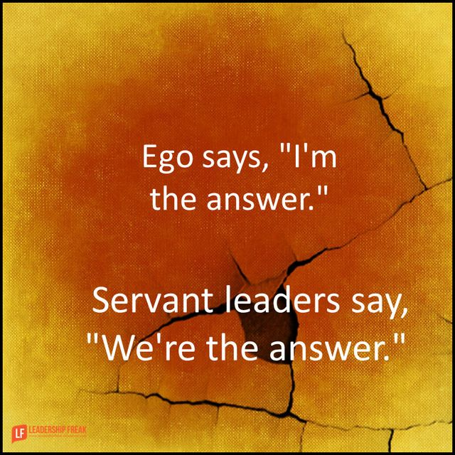 how to show servant leadership
