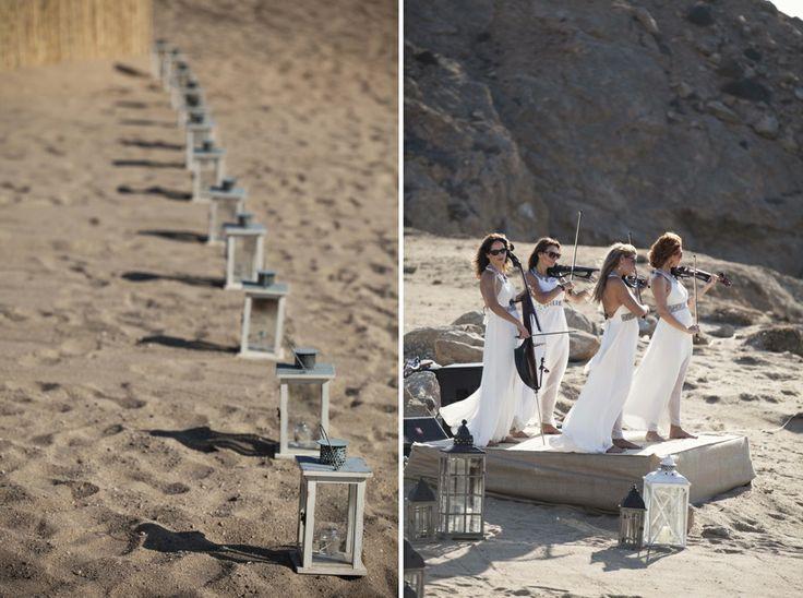 A violins quartet for the symbolic wedding ceremony!