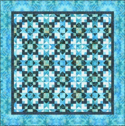 Quilt Project Using Rain Garden   Artisan Batiks Designed By Debra Lunn U0026  Michael Mrowka.