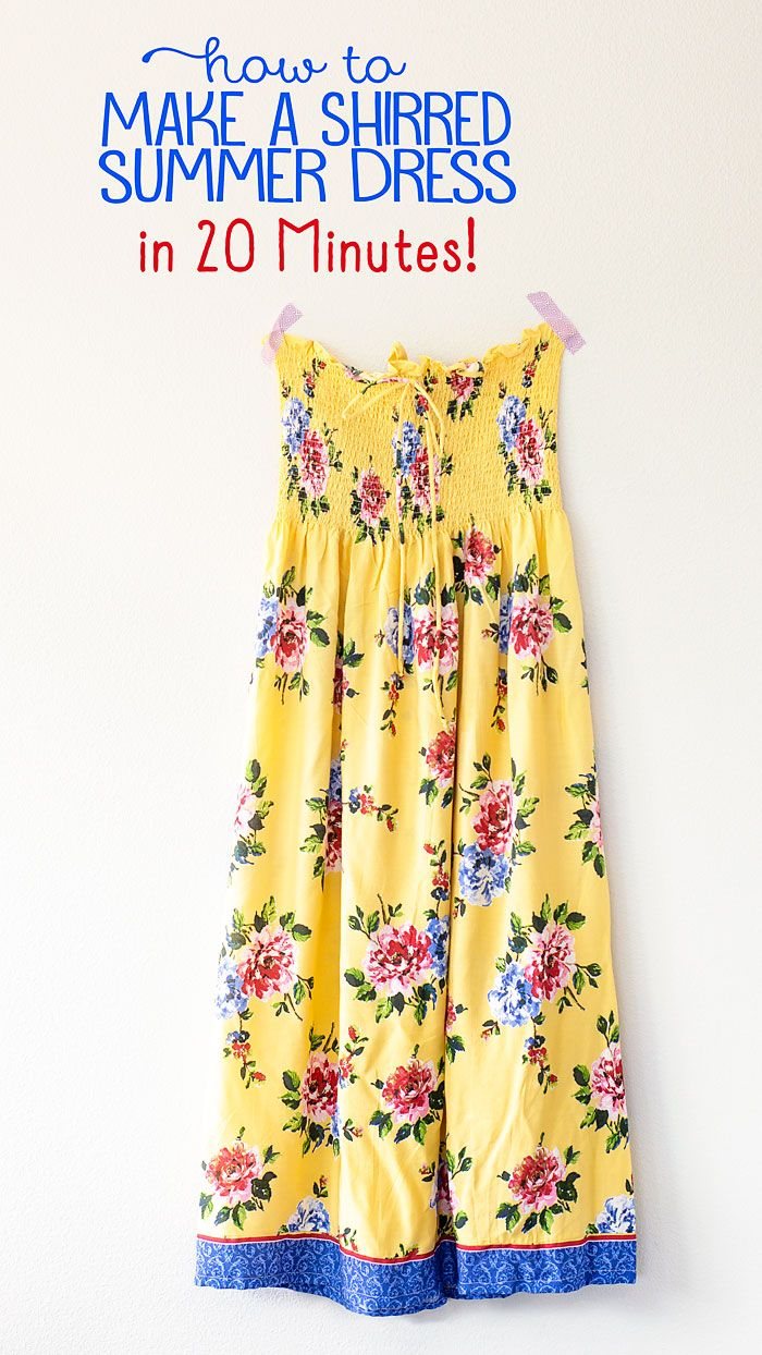 How To Make A Summer Sundress With Pre Shirred Fabric 20 Minute Project Shirred Fabric Sundress Pattern Shirred Dress [ 1244 x 700 Pixel ]