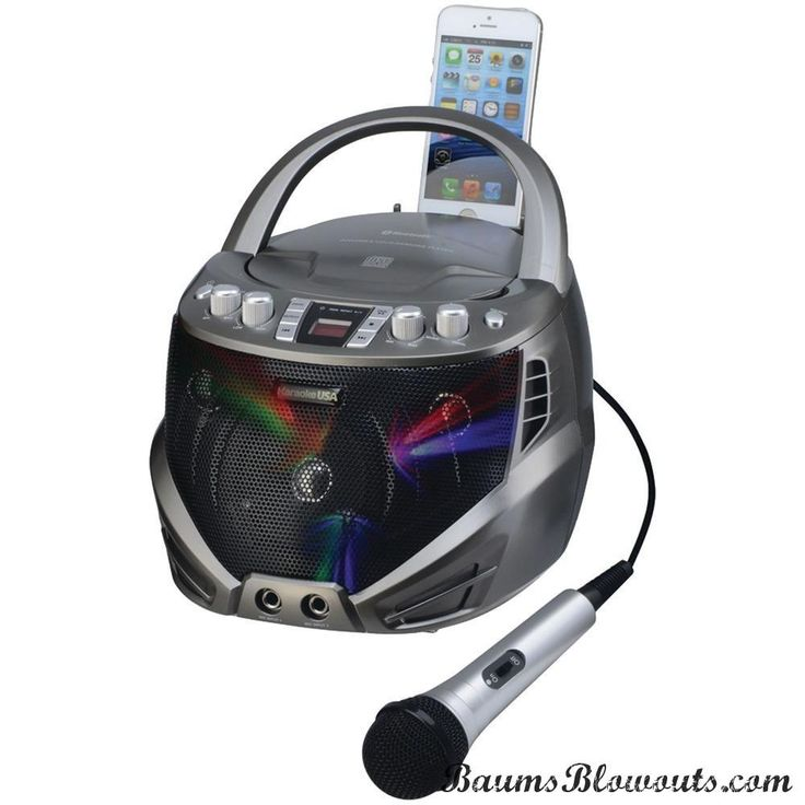 Karaoke Usa Portable Cd+g Karaoke Player With Flashing Led Lights