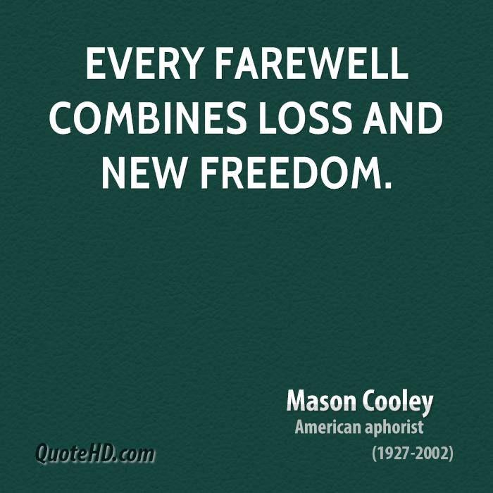 Inspirational Farewell Quotes. QuotesGram