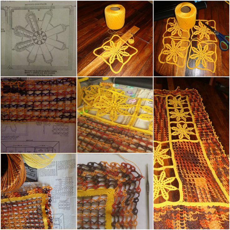Tapete con flores, creación de Y. Suzuki. #crochet #ganchillo. Patrón en la revista Ganchillo Artístico n°97
