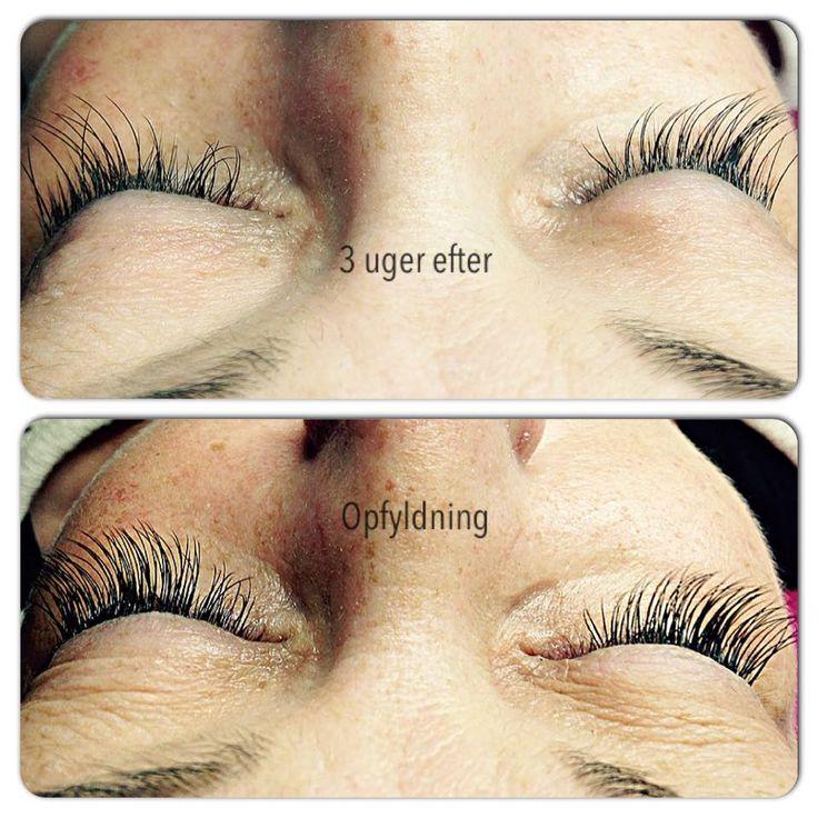 opfyldning af eyelashes