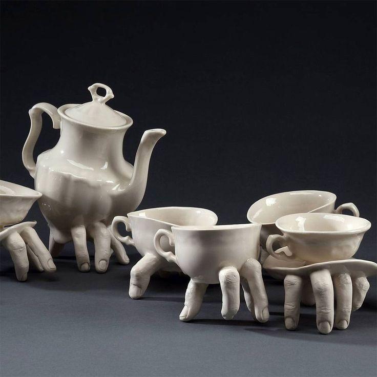 Artist Ronit Baranga's Disturbing Anatomical Dishware Creeps Across Tabletops | Colossal
