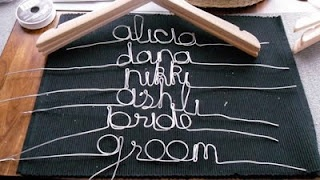 DIY personalized wedding hangers