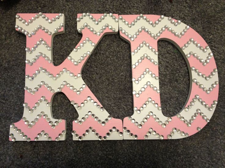 kd chevron letters crafting big little