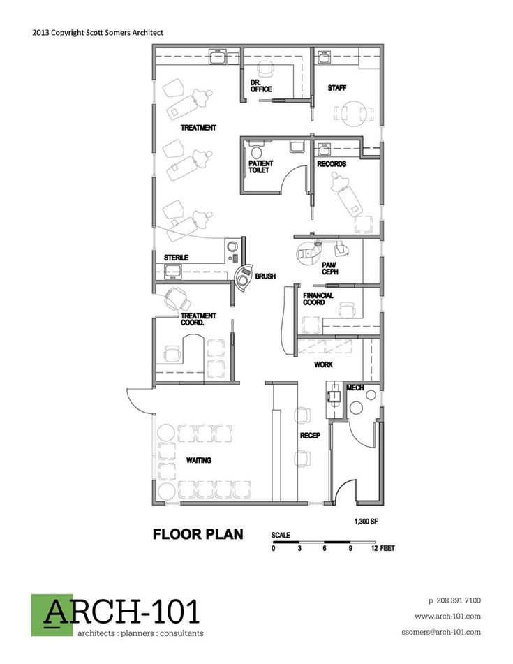 Dental office floor plan samples for Office floor plan samples