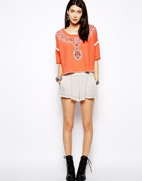 Free People Shorts in Broderie Anglaise