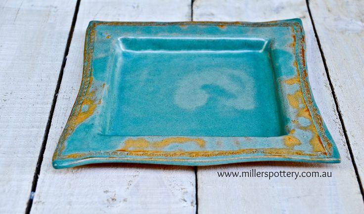 Australian handmade ceramics and Judaica - Passover Pessach Matzo Plate מצה פסח by www.millerspottery.com