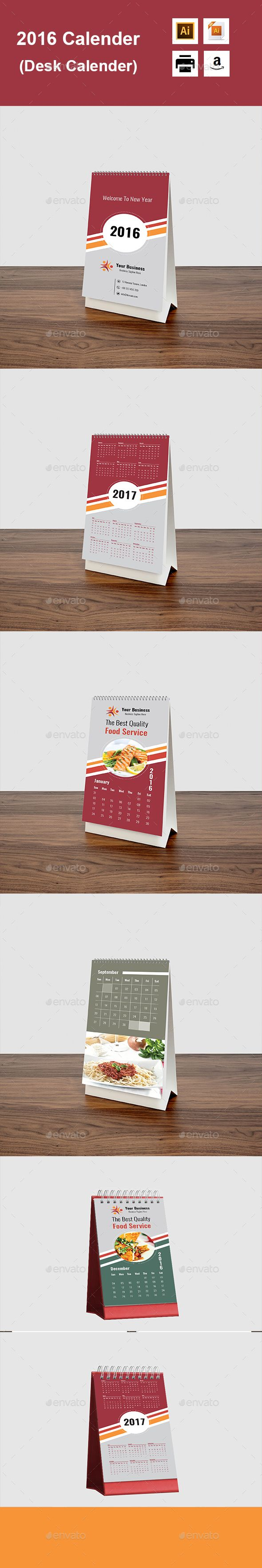 2016 Calender (Desk Calender) - Calendars Stationery