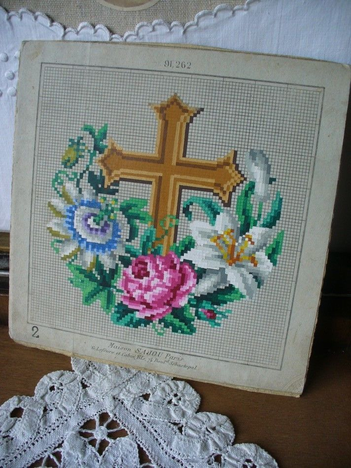 Antique embroidery pattern by SAJOU
