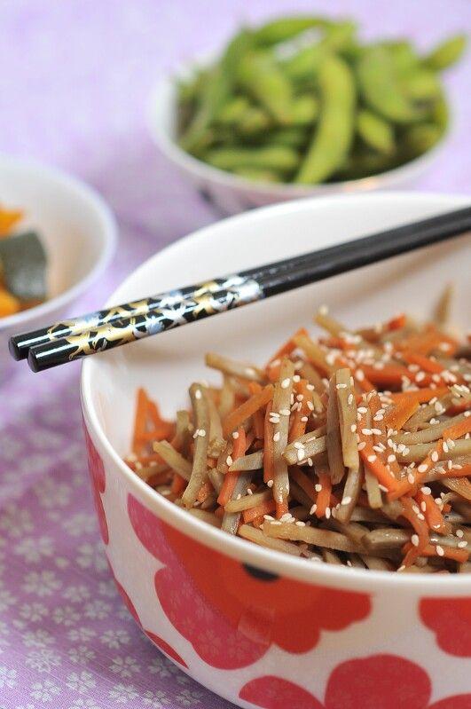 Gobo to Ninjin no Kimpira - Burdock and Carrot Kimpira | Kiku Corner