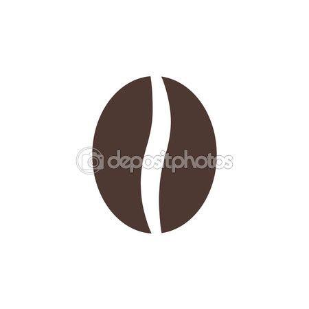 Coffee bean icon, modern minimal flat design style. Vector ...
