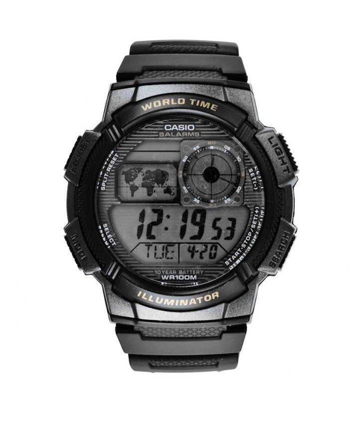 This Black AE-1000W-1BVDF Watch come with large case and button design give an easy-to-use, easy-to-read information such as a World Time map and analog LC display, and 10 Year Battery life, a perfect watch to accompany you wherever you go. http://www.zocko.com/z/JHZj5