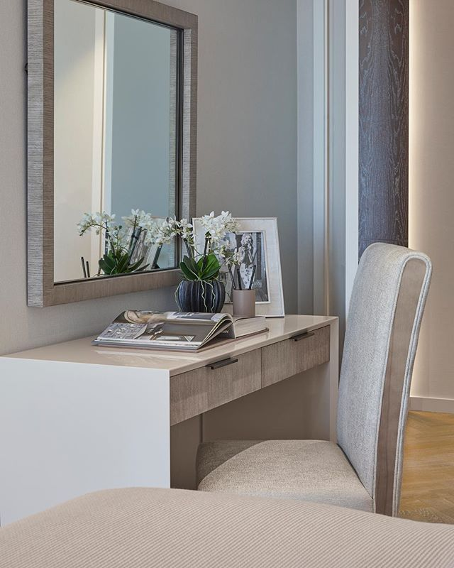Tranquil Dressing Table Area In Our Battersea Project Sometimes Simple And Understated Is Best Bedroom Interior Dressing Table Design Bedroom Dressing Table Dressing table in bedroom interior