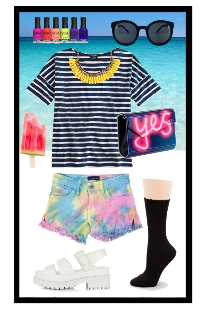 Yes to socks in summer 2015 by feralfoxfeet on Polyvore featuring polyvore, fashion, style, Saint James, Butter, Hue, Jimmy Choo, Roni Kantor and clothing