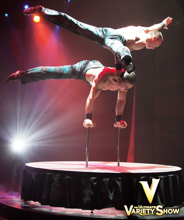 Iouri & Gabor make it look so easy, but we wouldn't recommend you try this at home. They've been elite balancing masters for more than a decade!    #Balance #VtheShow #LasVegas #PlanetHollywood