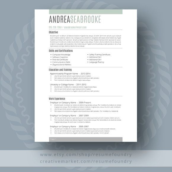 Student Resume Template By Resumefoundry On Creativemarket