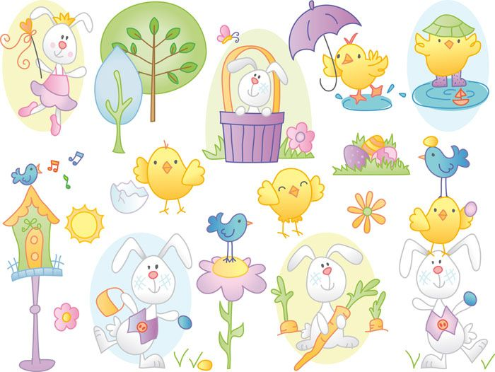 easter graphics | CLIPART EASTER BUNNY PAINTING | Royalty free ...
