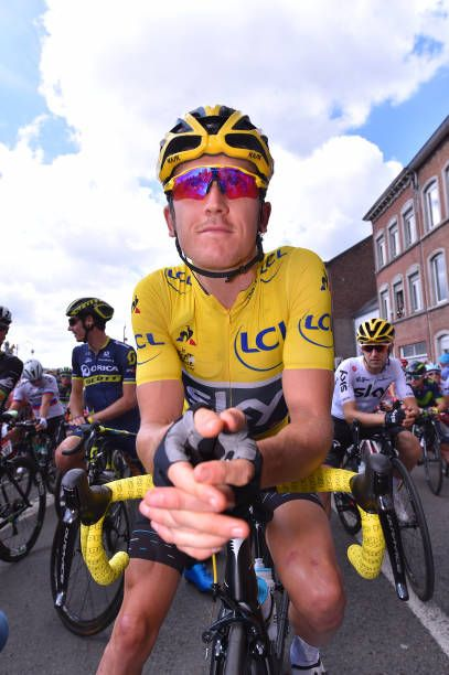 104th Tour de France 2017 / Stage 3 Start / Geraint THOMAS Yellow Leader Jersey / Verviers LongwyCote des Religieuses 379m / TDF/