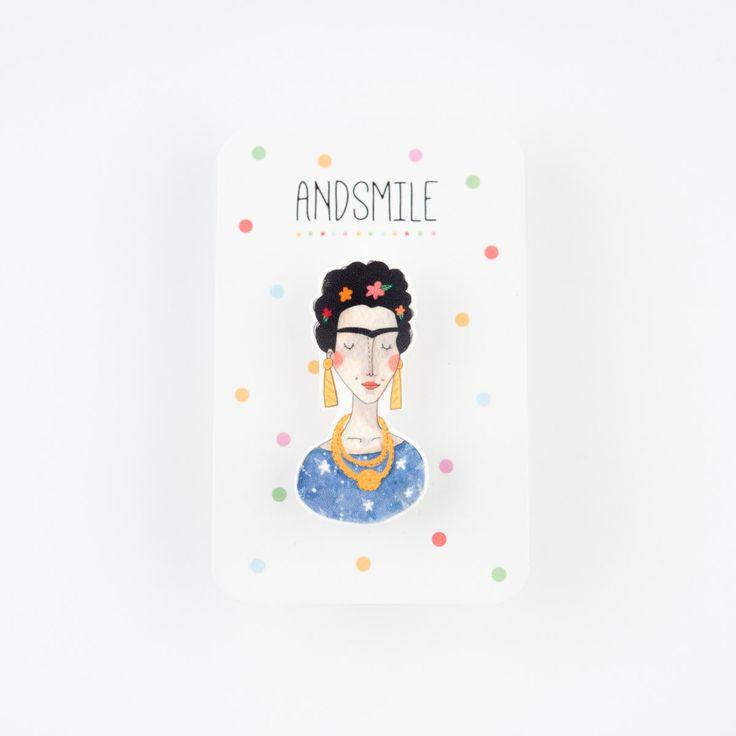 Frida Kahlo Brooch by andsmile on Etsy https://www.etsy.com/listing/127214203/frida-kahlo-brooch