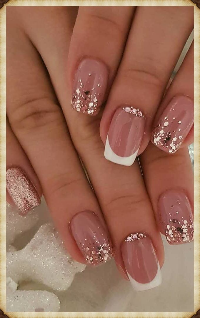 35 Impressive And Beautiful Nail Art For This Winter 38 In 2020 Nail Designs Glitter Bright Nail Designs Glitter Nails Acrylic