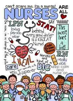 Nurses Day word cloud greeting card by Corrie Kuipers #nurse