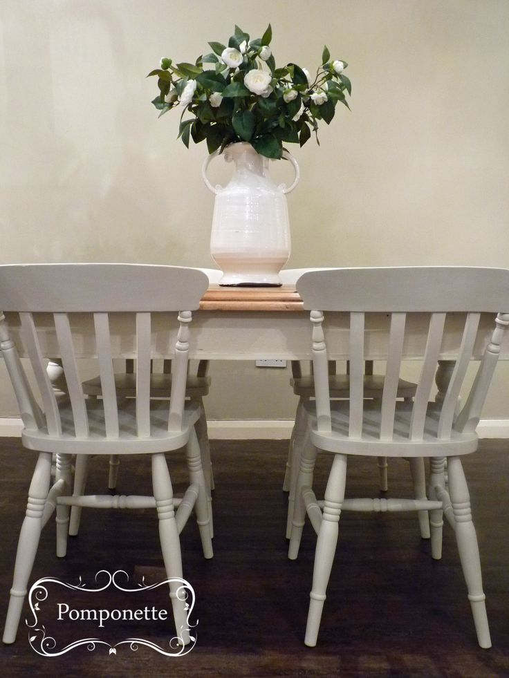 Farmhouse Dining Table Four Chairs Chalk PaintTM By Annie Sloan Stockists Trainers Unique Vintage Painted Furniture For Sale At Pomponette Leicester