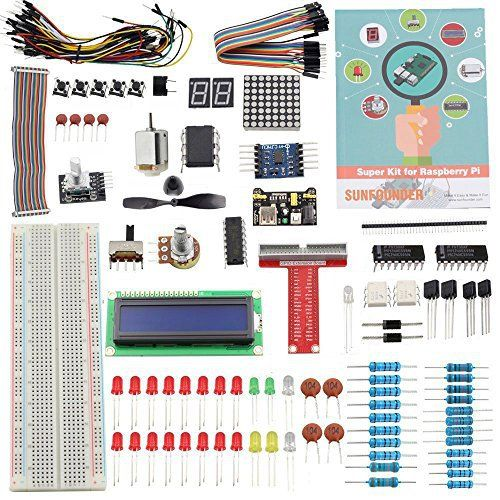 Kit pour Raspberry Pi modèle – Sunfounder Project Super Starter: This is an UPDATED Sunfounder Super Starter Kit for Raspberry Pi 3, 2,…