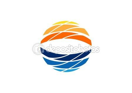 #abstract #circle #elements #logo, #illustration #sun #waves #symbol #icon #vector #design http://depositphotos.com?ref=3904401