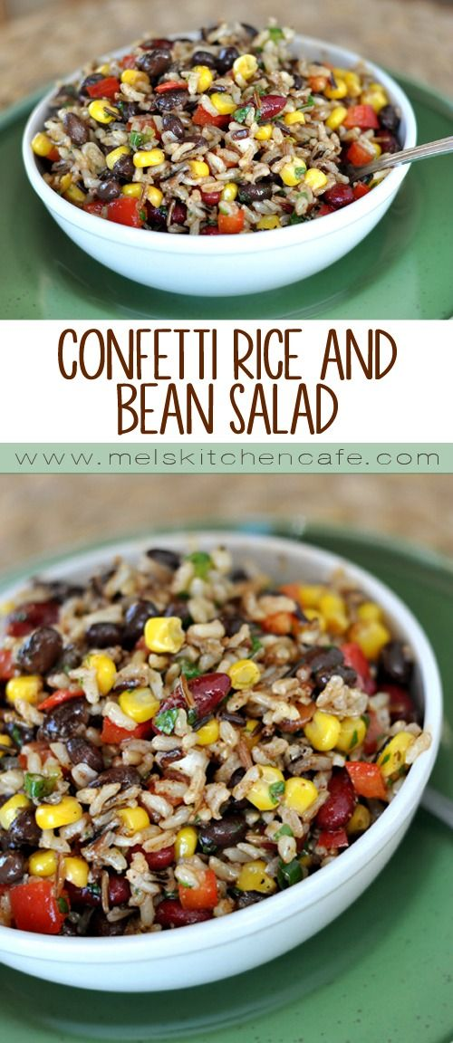 In case you need a last minute side dish for a BBQ, this healthful chilled rice and bean salad is just the ticket.