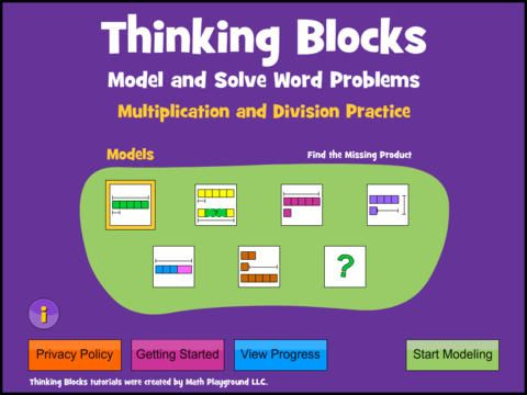 Thinking Blocks Multiplication teaches children how to model and solve word problems involving multiplication and division