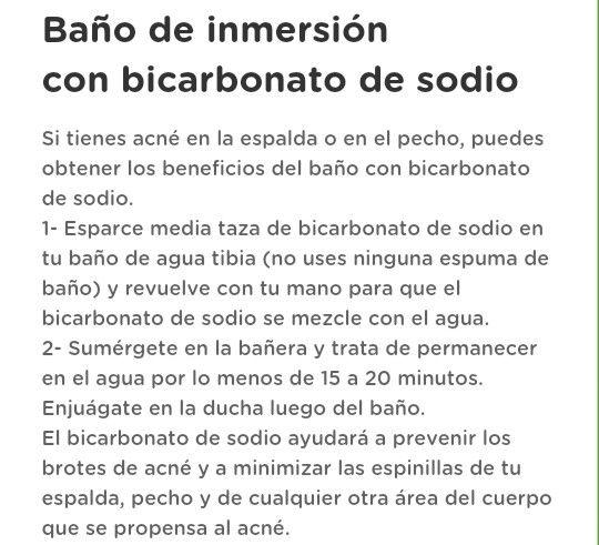 Baños De Tina Con Bicarbonato De Sodio:Baño de inversión con bicarbonato de sodio