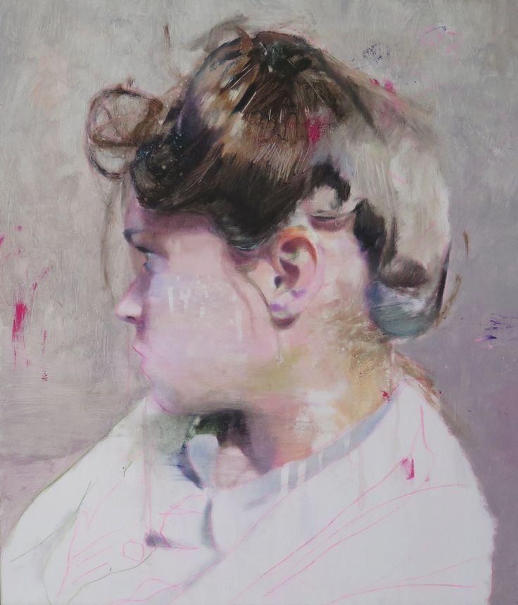Lou Ros, JMP 2, Oil on canvas, 62 x 50 cm - The Christopher Moller Art Gallery