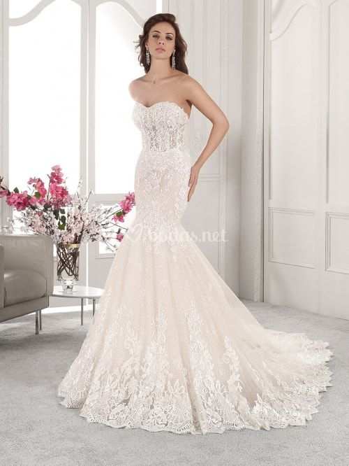Vestido de novia con escote corazón modelo 862 (DEMETRIOS)  matrimonio   nozze  sposa  spose  matrimoniocom  wedding  bri…  c64e87687449