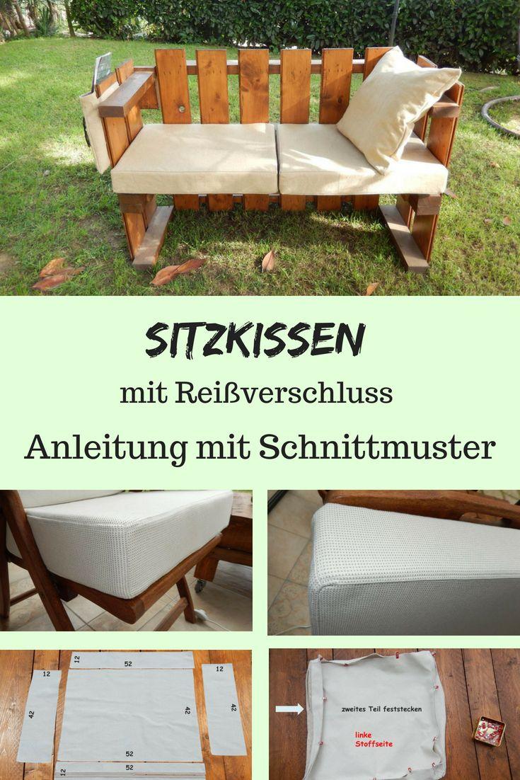 Das Sitzkissen hat einen abnehmbaren Bezug. Gekaufte Kissen sind oft teuer und … – DIY