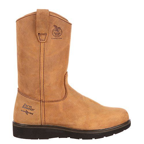 "Georgia Boot Wellington 11"" Soft Toe Men's Boot 11.5 D(M) US Tan"