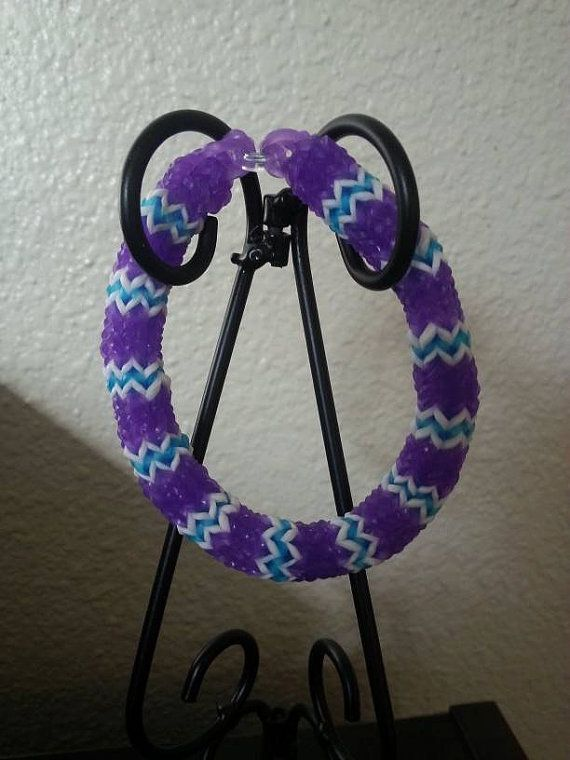 Hexafish Rainbow Loom Bracelet by ButtonsBetwixtRibbon on Etsy, $4.00