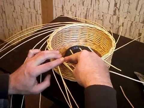 Плетение кромки (розга) -Weaving hrana - YouTube
